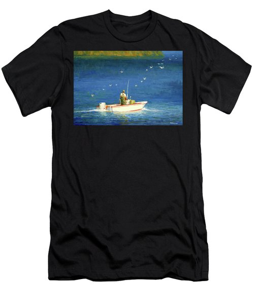 Men's T-Shirt (Athletic Fit) featuring the painting The Bayman by Mel Greifinger