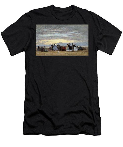 The Beach At Villerville Men's T-Shirt (Athletic Fit)