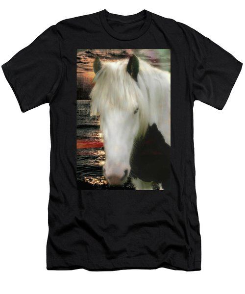 The Beautiful Face Of A Gypsy Vanner Horse Men's T-Shirt (Athletic Fit)