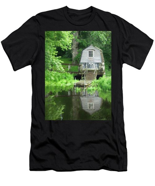 Men's T-Shirt (Athletic Fit) featuring the photograph Painted Effect - Boathouse by Susan Leonard