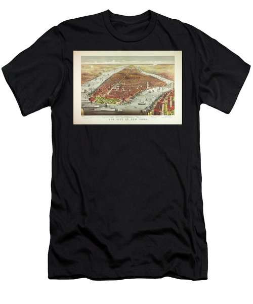 The City Of New York Men's T-Shirt (Athletic Fit)