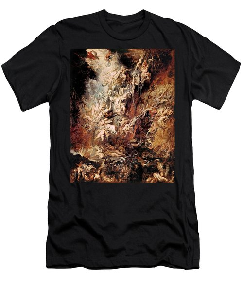 Men's T-Shirt (Slim Fit) featuring the painting The Fall Of The Damned by Peter Paul Rubens