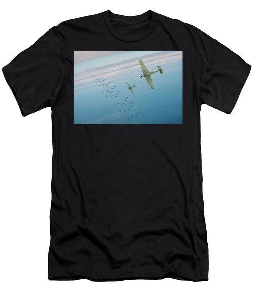 Men's T-Shirt (Athletic Fit) featuring the photograph The Few by Gary Eason