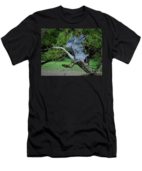 Men's T-Shirt (Slim Fit) featuring the photograph The Launch by Douglas Stucky