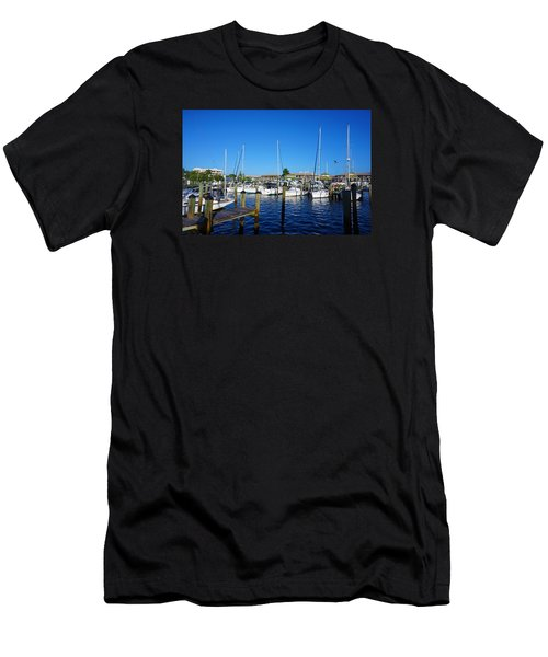 The Naples City Dock Men's T-Shirt (Athletic Fit)
