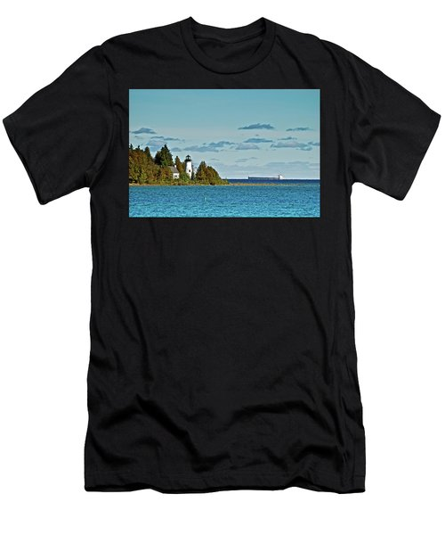 The Old Presque Isle Lighthouse Men's T-Shirt (Athletic Fit)