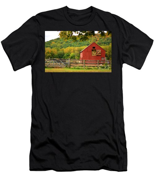 The Old Red Barn Men's T-Shirt (Athletic Fit)