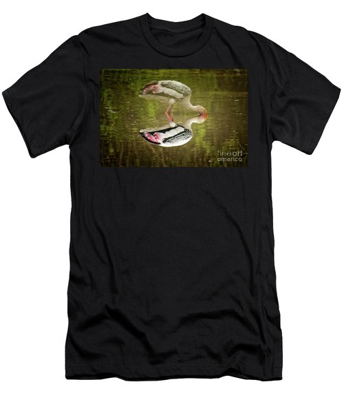 The Painted Stork  Mycteria Leucocephala  Men's T-Shirt (Athletic Fit)