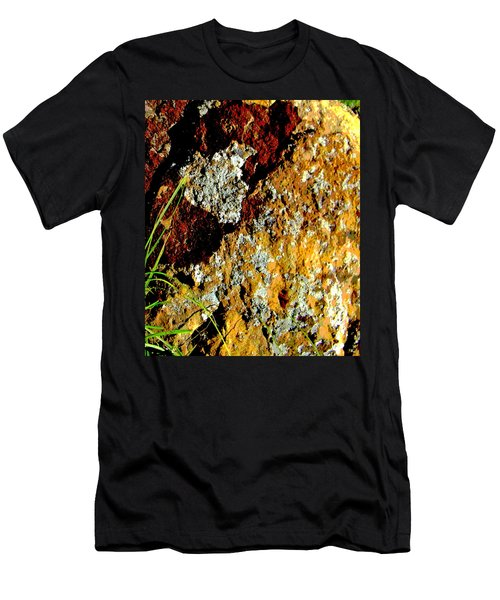 Men's T-Shirt (Slim Fit) featuring the photograph The Rock by Lenore Senior