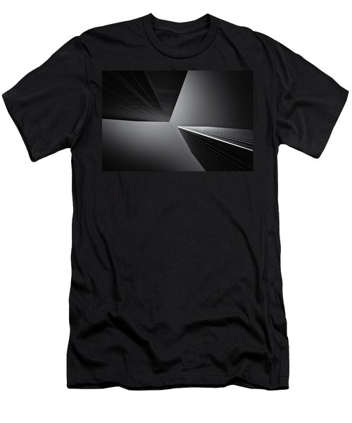 Men's T-Shirt (Athletic Fit) featuring the photograph The Tricorn Towers by Michael Hope