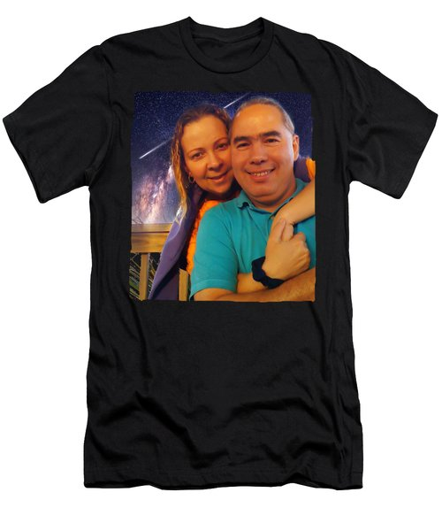 The Two Of Us Men's T-Shirt (Slim Fit) by Carlos Avila