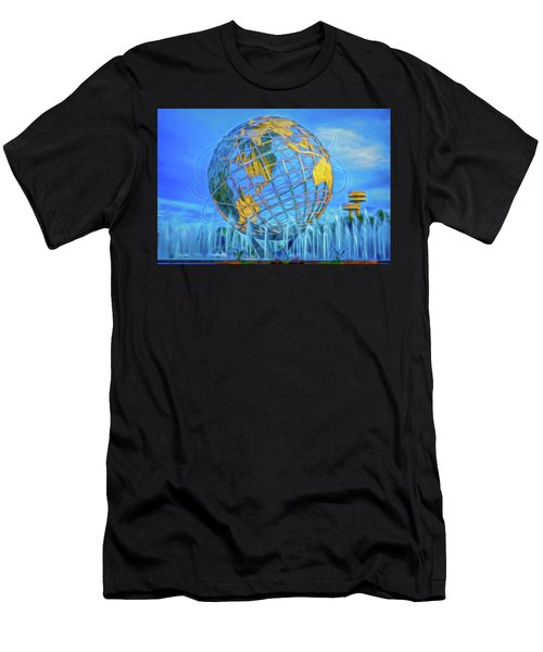 Men's T-Shirt (Athletic Fit) featuring the photograph The Unisphere by Theodore Jones
