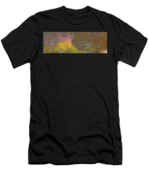 The Water Lilies, Setting Sun Men's T-Shirt (Athletic Fit)