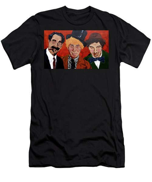 Three's Comedy Men's T-Shirt (Athletic Fit)