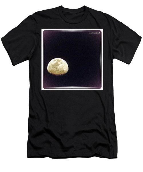 #throwbackthursday Last Night's #moon Men's T-Shirt (Athletic Fit)