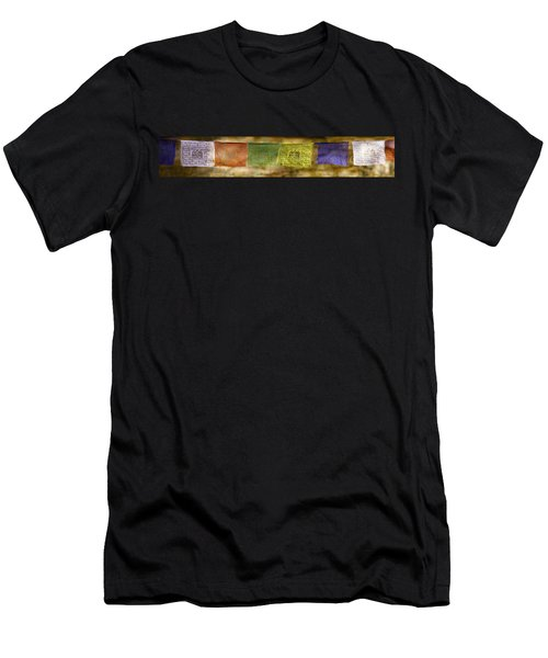 Tibetan Prayer Flags Men's T-Shirt (Athletic Fit)