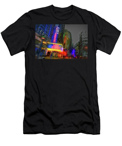 Men's T-Shirt (Athletic Fit) featuring the photograph Times Square by Theodore Jones