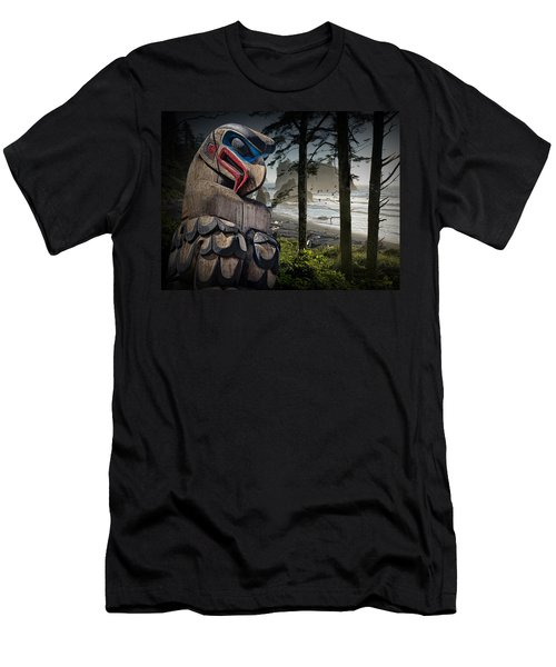 Totem Pole In The Pacific Northwest Men's T-Shirt (Athletic Fit)