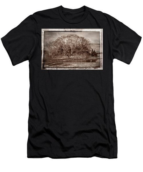 Tree In Marsh Men's T-Shirt (Athletic Fit)