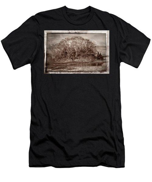 Tree In Marsh Men's T-Shirt (Athletic Fit)