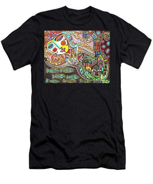 Tree Of Life Village Mermaid Men's T-Shirt (Athletic Fit)