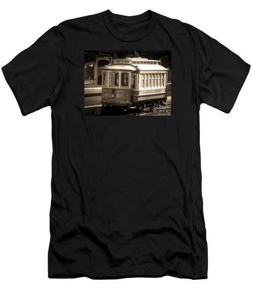 Men's T-Shirt (Slim Fit) featuring the photograph Vintage Train Trolley by Melissa Messick
