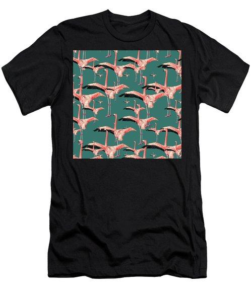 Tropical Flamingo  Men's T-Shirt (Athletic Fit)
