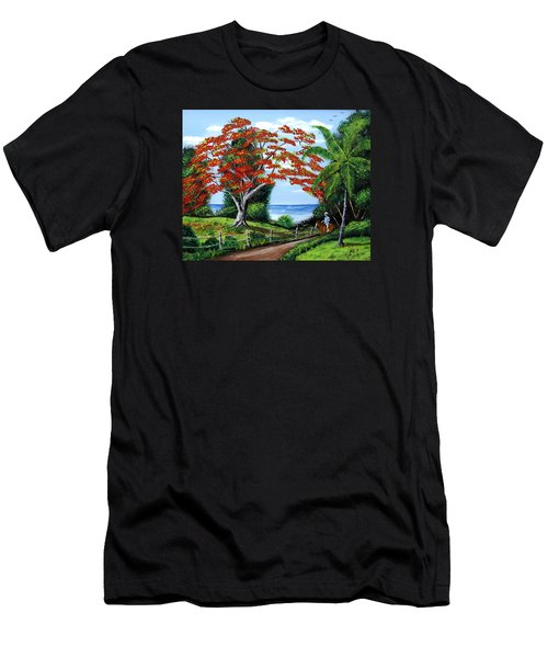 Tropical Landscape Men's T-Shirt (Slim Fit) by Luis F Rodriguez