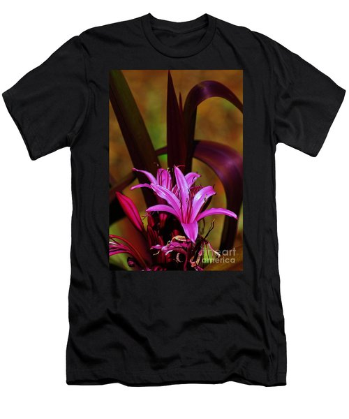 Tropical Lily Men's T-Shirt (Slim Fit) by Craig Wood