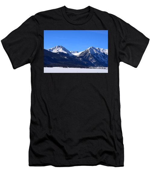 Men's T-Shirt (Athletic Fit) featuring the photograph Twin Lakes Mountains Leadville Co by Margarethe Binkley