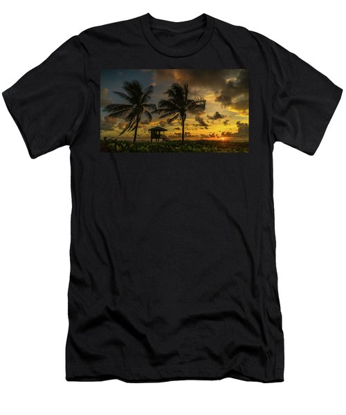 Two Palm Sunrise Delray Beach Florida Men's T-Shirt (Athletic Fit)