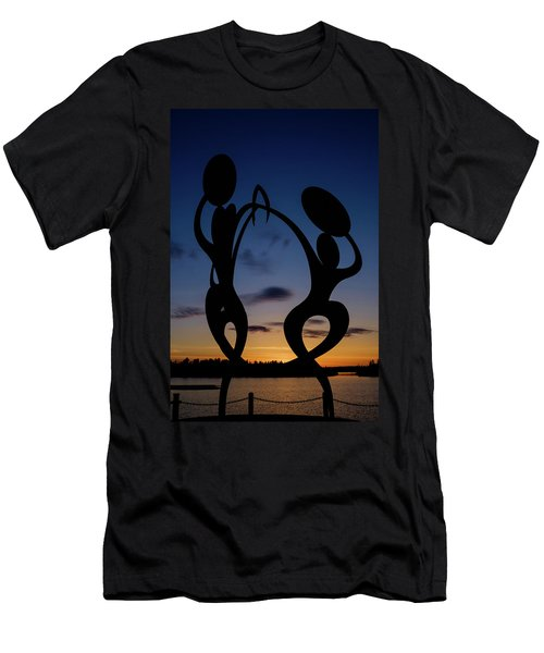 United In Celebration Sculpture At Sunset 5 Men's T-Shirt (Athletic Fit)