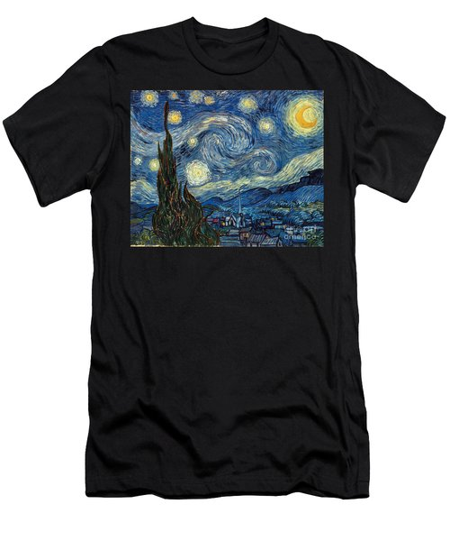 Van Gogh Starry Night Men's T-Shirt (Athletic Fit)