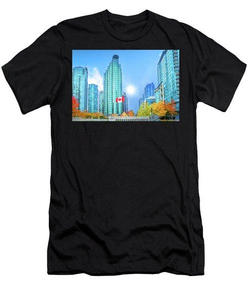 Vancouver Downtown Men's T-Shirt (Athletic Fit)