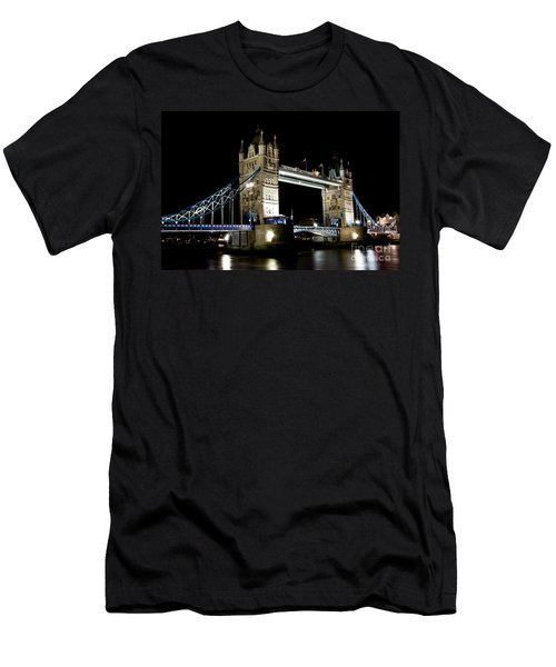 View Of The River Thames And Tower Bridge At Night Men's T-Shirt (Athletic Fit)