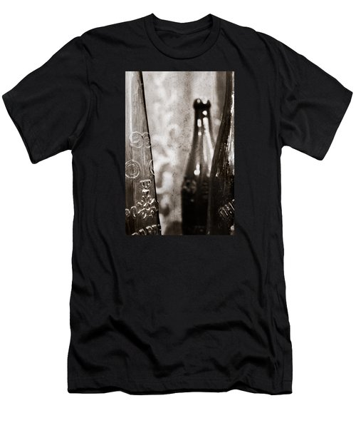 Men's T-Shirt (Slim Fit) featuring the photograph Vintage Beer Bottles. by Andrey  Godyaykin