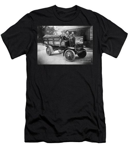 Vintage Coke Delivery Truck Men's T-Shirt (Athletic Fit)