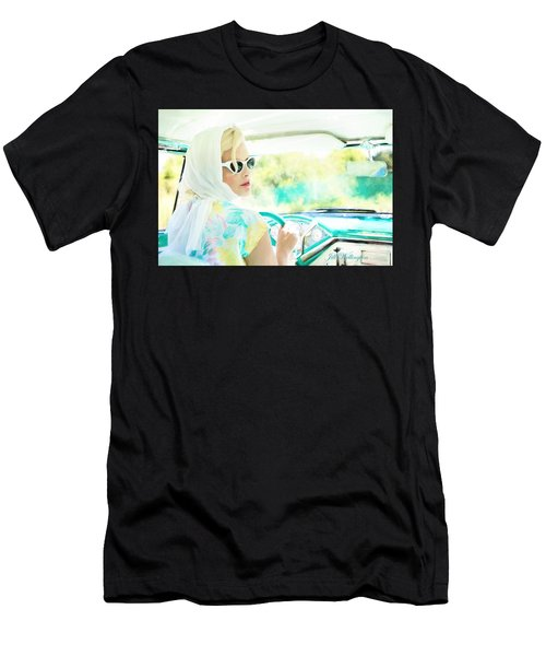 Vintage Val In The Turquoise Vintage Car Men's T-Shirt (Athletic Fit)