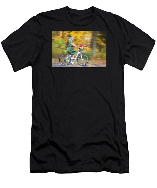 Men's T-Shirt (Athletic Fit) featuring the digital art Vintage Val Bike Ride by Jill Wellington