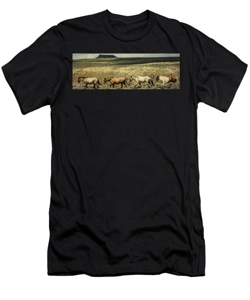 Walking The Line At Pilot Butte Men's T-Shirt (Athletic Fit)