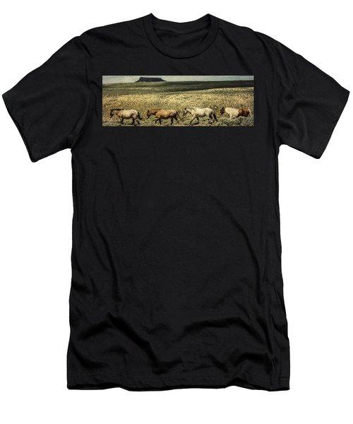 Walking The Line At Pilot Butte Men's T-Shirt (Athletic Fit)