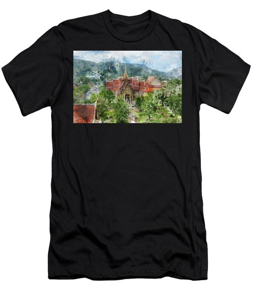 Wat Chalong In Phuket Thailand Men's T-Shirt (Athletic Fit)
