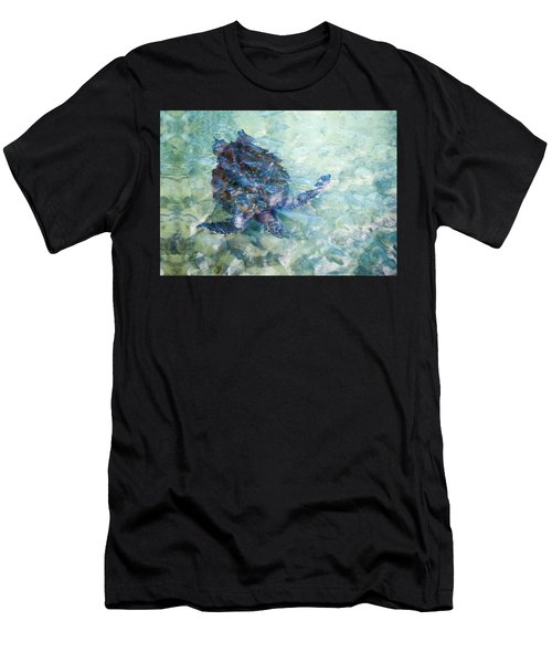 Watercolor Turtle Men's T-Shirt (Athletic Fit)