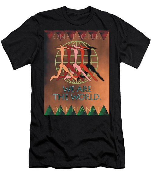 We Are The World Men's T-Shirt (Athletic Fit)
