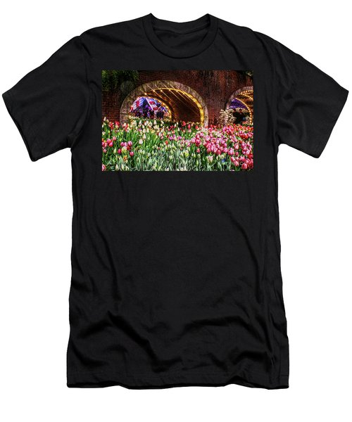 Welcoming Tulips Men's T-Shirt (Athletic Fit)