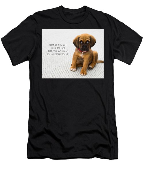 Men's T-Shirt (Athletic Fit) featuring the digital art When We First Met by Anthony Murphy