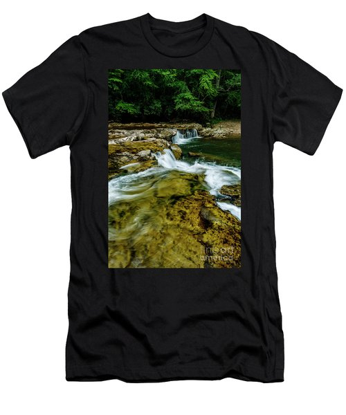 Whitaker Falls In Summer Men's T-Shirt (Athletic Fit)