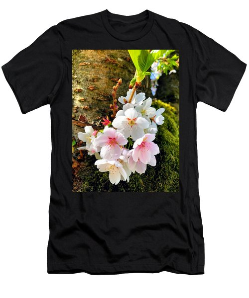 White Apple Blossom In Spring Men's T-Shirt (Athletic Fit)
