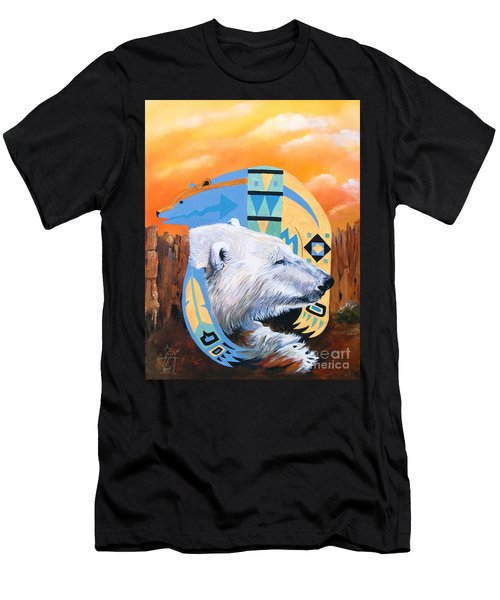 White Bear Goes Southwest Men's T-Shirt (Athletic Fit)