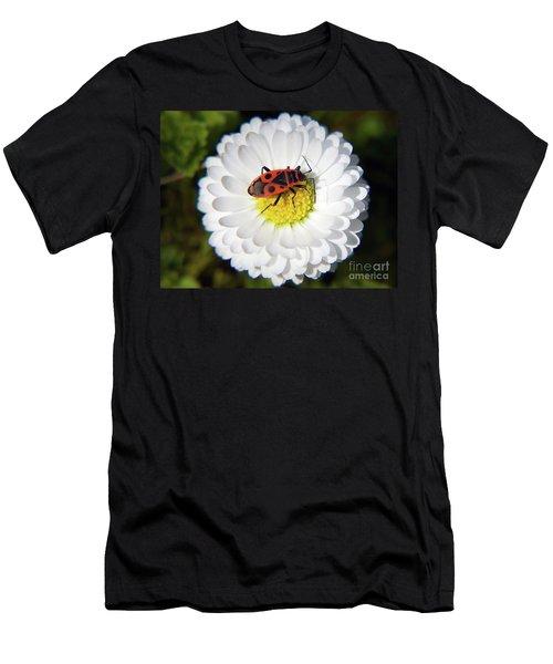 Men's T-Shirt (Slim Fit) featuring the photograph White Flower by Elvira Ladocki